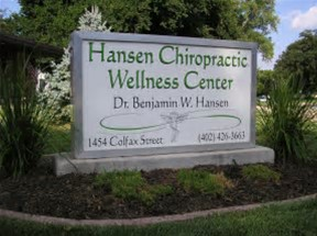 Larimore Massage and Bodywork is located within Hansen Chiropractic Wellness Center on the corner of 15th and Colfax., Within Hansen Chiropractic Wellness Center, 1454 Colfax, Blair, NE, 68008, USA